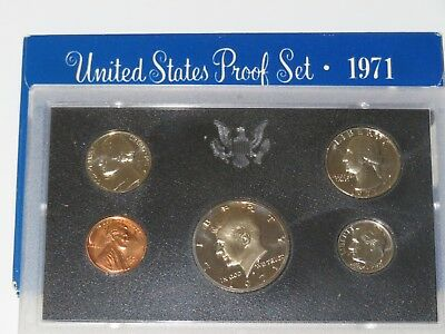 1971 s (5) Coin PROOF Set in Original US Mint Display Case & Mint Box      PS003
