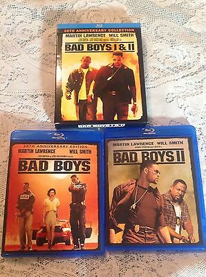 BAD BOYS I & II BLU-RAY 1995 & 2003 MOVIE COMEDY ACTION 20th ANNIVERSARY BOX SET