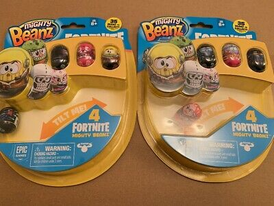 Fortnite Mighty Beanz 4 Pack x 2 packs (lot 7)