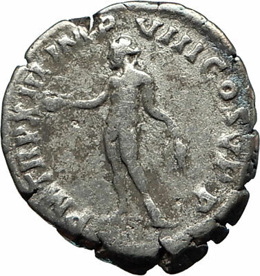 COMMODUS son of Marcus Aurelius 188AD Silver Ancient Roman Coin Genius i76196