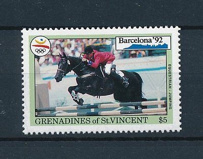 [33216] Grenadines of St. Vincent 1992  Horseriding Olympic Games from set MNH