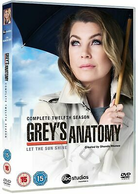 Grey's Anatomy: Complete Twelfth Season (DVD 6 DISC BOX SET, 2016) *NEW/SEALED*