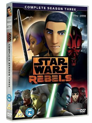 Star Wars Rebels: Complete Season 3 (DVD 4 DISC BOX SET) *NEW/SEALED* FREE P&P