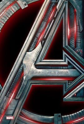 Marvel AVENGERS AGE OF ULTRON 2015 Advance Teaser DS 2 Sided 27x40 Movie Poster