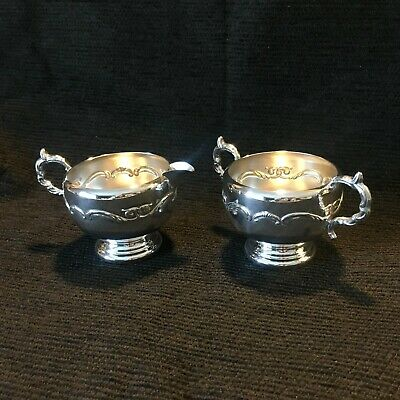 Vintage  EP Silver Viking plate Coffee/Tea Creamer & Sugar set made in Canada