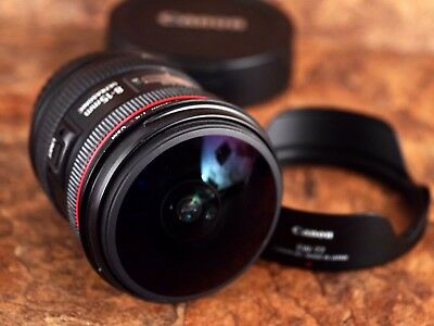 Canon EF 8-15mm f/4 L USM Fisheye-Zoom Lens - Tiny Mark on Glass