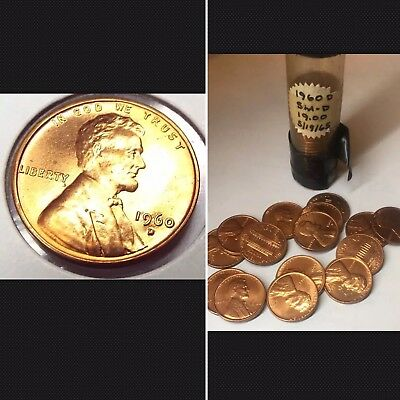 🔥 1960-D Date Lincoln Penny Sale! Uncirculated $1 Each Coin + Free Shipping!