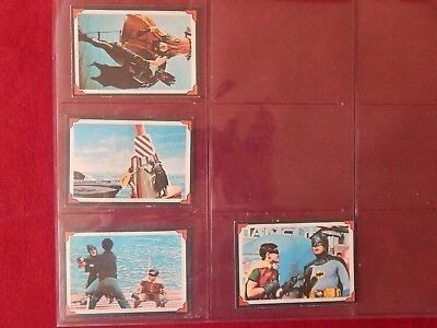 4X 1966 Batman And Robin Trading Cards 16 28 31 37 National Periodical