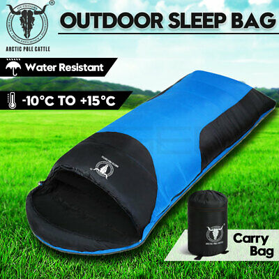 Outdoor Camping Envelope Sleeping Bag Thermal Tent Hiking Compact Single -10°C B