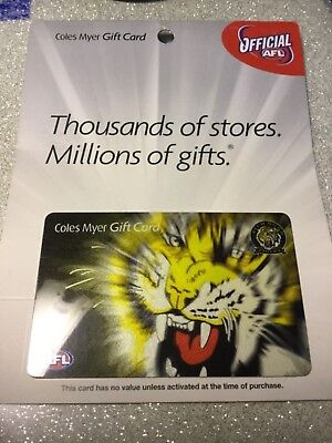 2006 AFL Coles Myer Gift Card Richmond Tigers
