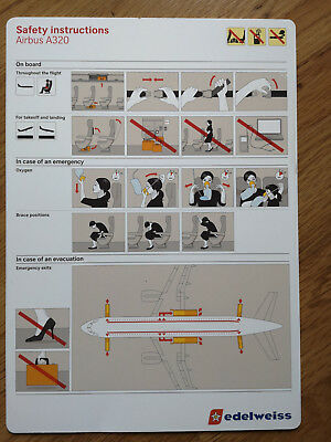 EDELWEISS Airbus A320 Safety Card