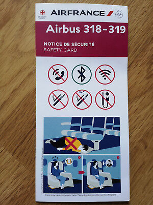 Air France  Airbus Airbus 318-319 Safety Card