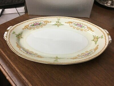 "Holly China Melody Narumi Occupied Japan 13"" Oval Serving Platter"