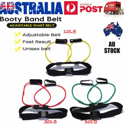 Booty Resistance Band Belt Butt Exercise Abs Training Strength Band Power Gym AU