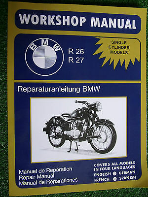 BMW R26 & R27 Motorcycles Motor Cycle Factory Workshop Manual 245cc 1956-1967