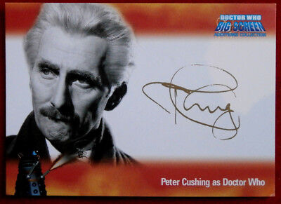 DR WHO BIG SCREEN ADDITIONS - PETER CUSHING FACSIMILE AUTOGRAPH - Strictly Ink