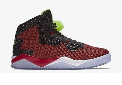 9be66bcd4a49e5 Nike Air Jordan Spike Forty Mens 819952-605 Green Red Blk B-ball Shoes