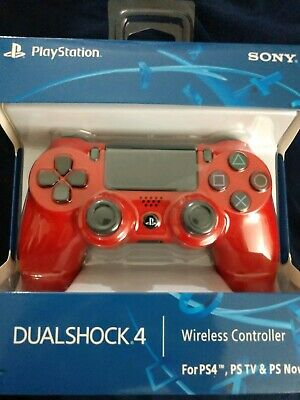 Wireless ps4 controller, Red, Brand new