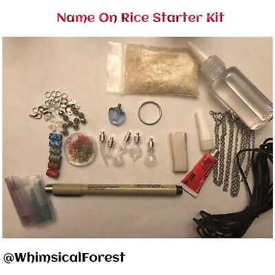 Name On Rice Starter Kit Makes Variety Of 5 Items Vials Oil Pen Components DIY