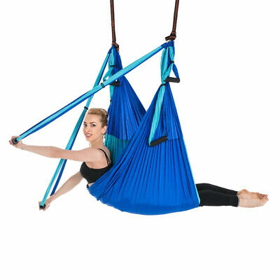Aerial Yoga Hammock Yoga Fitness Hammock Parachute Decompression Swing Sling Inversion Anti-gravity Sports & Entertainment Yoga