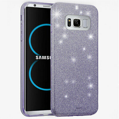 For Samsung Galaxy S9 S8 Plus S7 Bling Glitter Sparkly Soft Gel Phone Cover Case