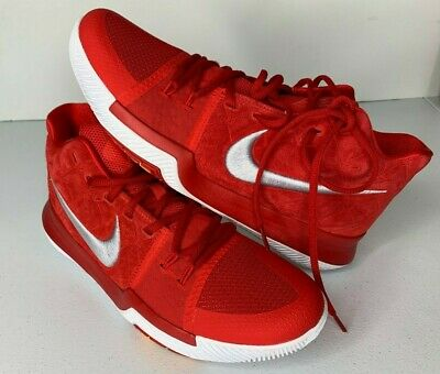 b1456f8c05340 NEW SIZE 11 NIKE Kyrie 3 Basketball Shoes University Red Suede 852395 601  Mens