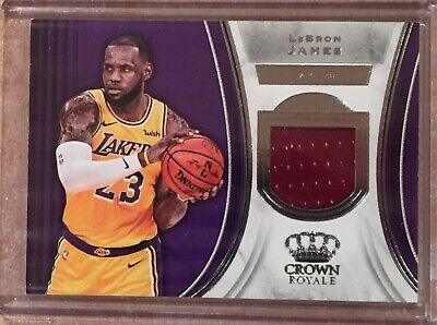 0b02210e2 2018-19 Crown Royale LeBron James Game Used Jersey Relic Los Angeles Lakers