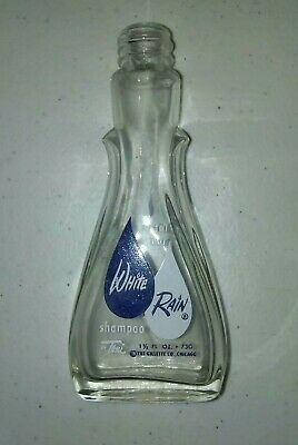 VINTAGE ACL CRYSTAL CLEAR WHITE RAIN SHAMPOO BY TONI 1.5oz GILLETTE CO. CHICAGO