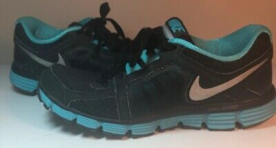 more photos 153a1 8dbba Nike Dual Fusion ST2 Womens Size 9.5 Running Shoes Black Turquoise