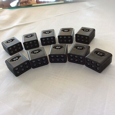 NEW BRIGHTER 10 mini Blocklight 6LED Flashlight Torch tops for 9v battery