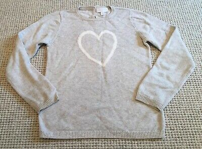 The White Company girls cotton heart jumper - age 7-8