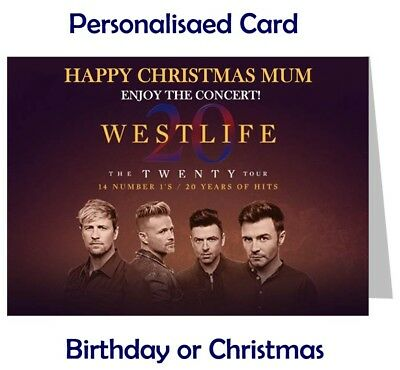 WESTLIFE Concert Tour Show Ticket Wallet - Card Birthday, Christmas gift etc.