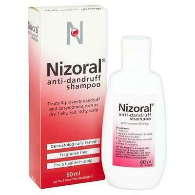 Nizoral Anti Dandruff Shampoo Treatment Keto Fragrance Free Dry Itchy Scalp 60ml