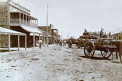 PORT AUGUSTA Sth Aust Main St Sepia view c1870 modern Digital Photo Postcard