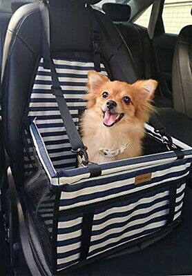 Fancydeli Dog Car Seat Upgrade Deluxe Portable Pet Dog Booster Car Seat with Cli