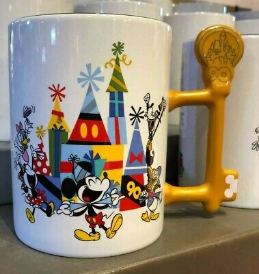Disney Parks Exclusive Mickeys 90th Birthday Party Hat Mickey Mouse Key Mug