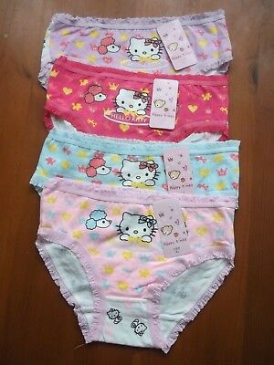Girls Hello Kitty Print Multicoloured Knickers Age 7-8 Years