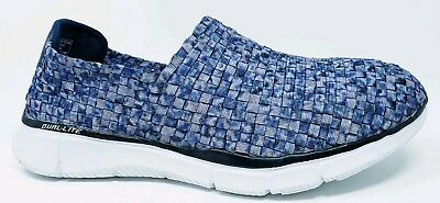 44130753d315 Skechers Womens sz 9.5 Equalizer Vivid Dream Blue Memory Foam Woven Sneakers
