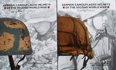 2 BOEK/BOOK/LIVRE : GERMAN CAMOUFLAGED HELMETS (ww2,duitse helm,casque allemand