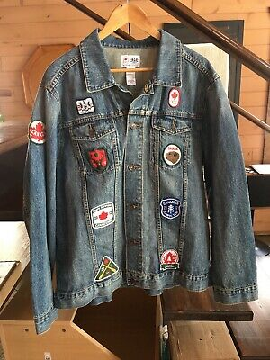 Nwt Hbc Team Canada 2012 Olympic Denim Jean Patch Jacket Mens X-Large Canadian