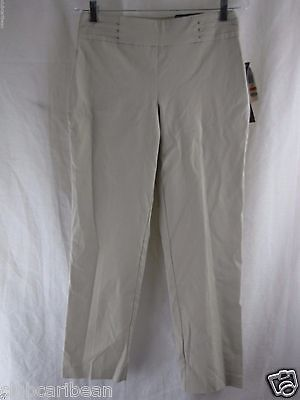 1cc3afeac83 JM COLLECTION TUMMY CONTROL SLIM LEG PULL ON PANT - stonewall- SIZE S Short  A8