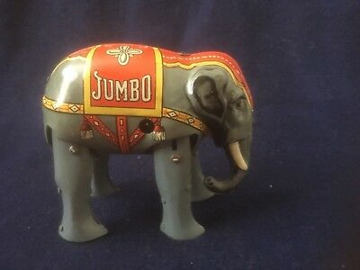 Vintage Early Jumbo Elephant German Wind Up Tin Toy D.r.g.m. Germany Nm