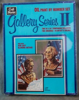 Paint by Number Craft Master Gallery Series II Oil Set Sealed Great Americans
