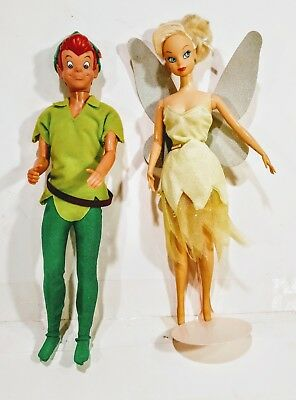 Disney's Tinker bell barbie doll and Peter Pan