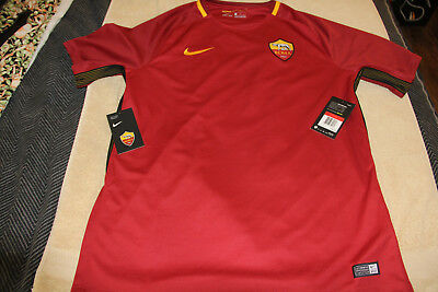 online retailer 3d69c c400f AS Roma Jersey 20172018 Home Nike Mens Large NWT