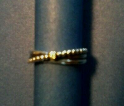 048c79323 PANDORA RISING STAR ring 58, size 9 14k gold and diamond - $40.00 ...