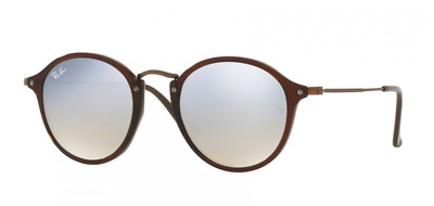 7c88c999f4 Ray Ban Flat Lenses Sunglasses RB2447N c.6256 9U Brown Bronze Silver Mirror  49mm
