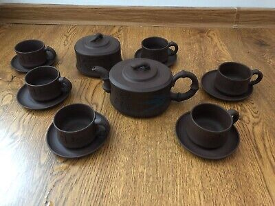 Yixing Teapot Set w/ Six Cups and Canister