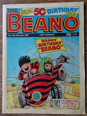 BEANO SPECIAL 50th BIRTHDAY ISSUE. INCLUDES FREE GIFT.