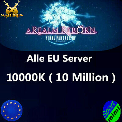 FINAL FANTASY XIV FFXIV FF14 GIL 10000K 10 MILLION 10M Alle EU Server GILS